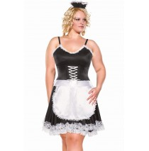 Diva Frisky French Maid Sexy Adult Plus Costume -1X/2X