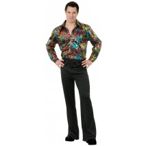 Black Disco Pants Adult Plus -46
