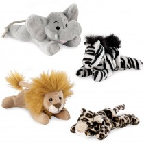 Safari Animal Bean Bag Set  -""