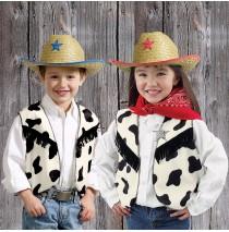 "Cow Print Vest -"""
