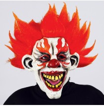 Fire Clown Mask -One Size