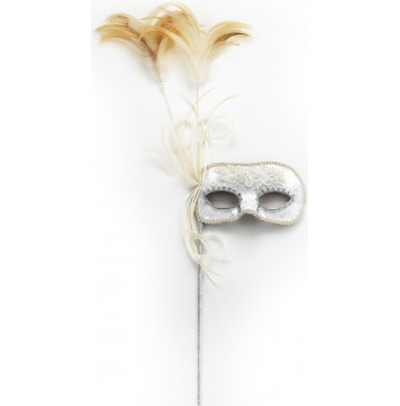White Velvet Mask with Pearl Embroidery on Stick -One-Size - 61681-360x365.jpg