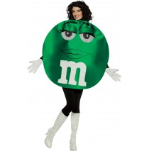 M&Ms Green Deluxe Adult Costume -Standard
