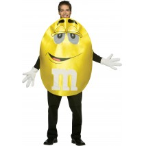 M&Ms Yellow Deluxe Adult Costume -Standard