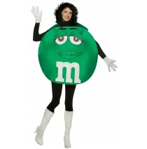 M&Ms Green Poncho Adult Costume