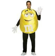 M&Ms Yellow Poncho Adult Costume -Standard