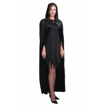Hooded Velveteen Adult Cape -One-Size