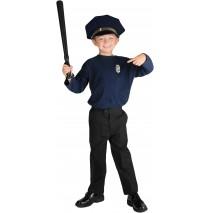 Policeman Child Costume Kit