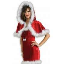 Christmas Capelet (Red) Adult -One-Size (Standard)