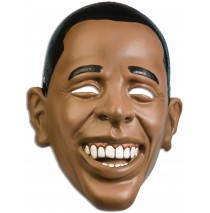 Barack Obama Plastic Adult Mask -One Size Fits Most Adults