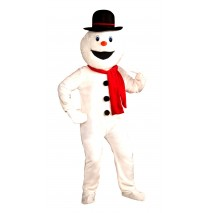 Snowman Economy Mascot Adult Costume -Standard (One Size)