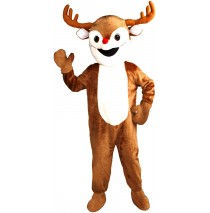 Reindeer Economy Mascot Adult Costume -Standard (One Size)