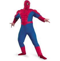 Spider-Man Classic Muscle Adult Plus Costume -XX-Large (50-52)