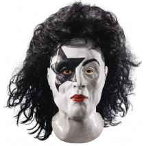 KISS - Starchild Latex Full Mask With Hair (Adult) -One-Size