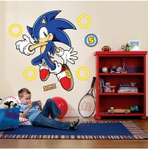 Sonic the Hedgehog Giant Wall Decals -""