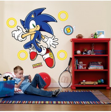 """Sonic the Hedgehog Giant Wall Decals -"""" - 71514-360x365.jpg"""
