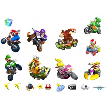 """Mario Kart Wii Removable Wall Decorations -"""" - 72040-360x365.jpg"""