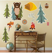 Let's Go Camping Giant Wall Decals -""