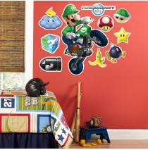 Mario Kart Wii Luigi Giant Wall Decal -""