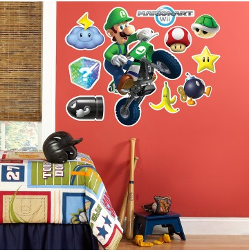 "Mario Kart Wii Luigi Giant Wall Decal -"" - 75470-360x365.jpg"