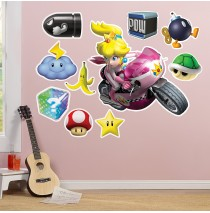 Mario Kart Wii Princess Peach Giant Wall Decal -""