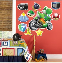 "Mario Kart Wii Yoshi Giant Wall Decal -"""