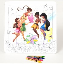 Disney Tinker Bell Color Your Own Puzzle -""