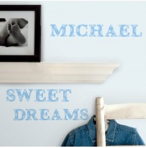 Blue Alphabet Peel and Stick Wall Decals -""