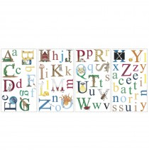 Alphabet Peel and Stick Wall Decals -""