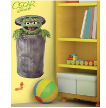 Oscar the Grouch Peel and Stick Giant Wall Decals -""