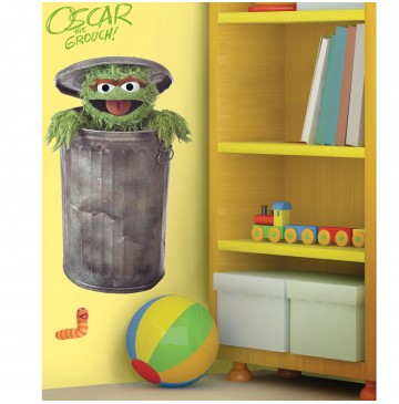 """Oscar the Grouch Peel and Stick Giant Wall Decals -"""" - 77980-360x365.jpg"""