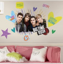 Big Time Rush Peel and Stick Giant Wall Decals -""