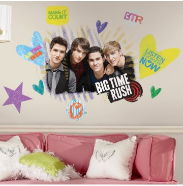 """Big Time Rush Peel and Stick Giant Wall Decals -"""" - 77994-360x365.jpg"""