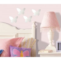 Butterfly Peel and Stick Small Mirror Wall Decals -""