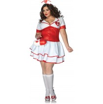 Naughty Nurse Nightengale Adult Plus Costume -1X/2X
