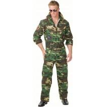 Camoflage Jumpsuit Plus Adult Costume -One-Size (Plus)