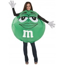 Green M&M Inflatable Adult Costume -One-Size (Standard)