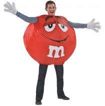 Red M&M Inflatable Adult Costume -One-Size (Standard)