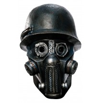 Sucker Punch - Overhead Gas Mask Zombie Latex Mask (Adult) -One-Size