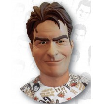 Charlie Sheen Deluxe Latex Mask (Adult) -One-Size