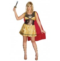 Golden Warrior Adult Plus Costume -1X/2X