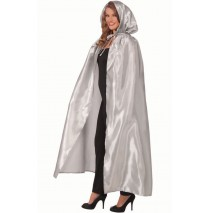 Fancy Masquerade Silver Adult Cape -One-Size