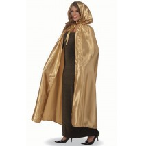 Fancy Masquerade Gold Adult Cape -One-Size