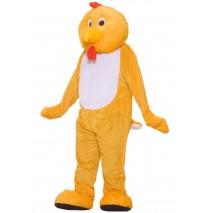 Chicken Deluxe Mascot Adult Costume -Standard
