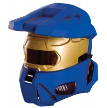 Halo Universe Blue Spartan 1/2 Mask Adult -One-Size
