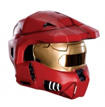 Halo Universe 2 Piece Red Spartan Mask Adult -One-Size