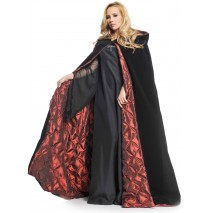 "Deluxe Velvet and Satin with Embossed Satin Lining 63"" Adult Cape -One-Size"