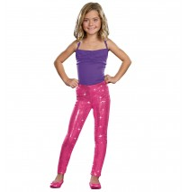 Kids Pink Sequin Leggings -Medium/Large