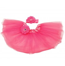 Hot Pink Tutu with Headband -One size