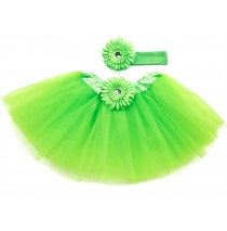Lime Green Tutu with Headband -One size